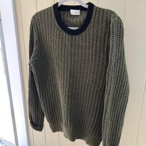 Vintage Navy/Moss Club Monaco Sweater